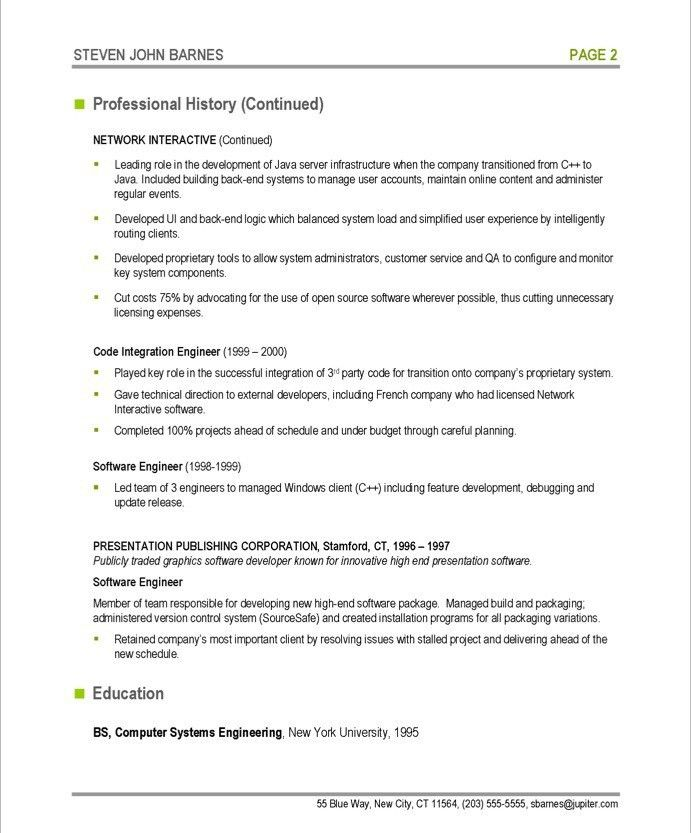 Software Developer | Free Resume Samples | Blue Sky Resumes