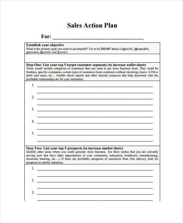 7 Monthly Sales Plan Templates - Free Sample, Example, Format ...