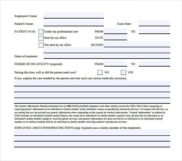 Medical Leave Form. Leave Of Absence Request Form In Pdf Sample ...