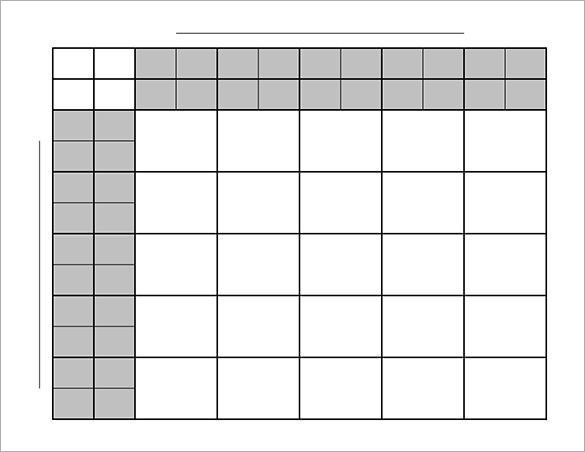 Blank Football Pool Template