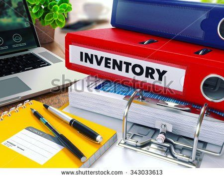 Inventory Red Ring Binder On Office Stock Illustration 343033613 ...