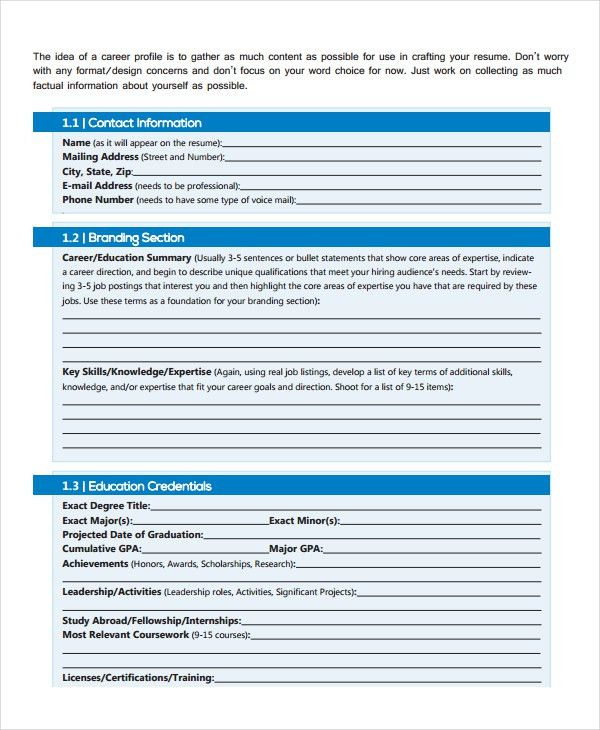 Work Resume Template - 11+ Free Word, PDF Document Downloads ...