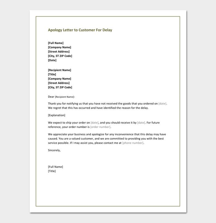 Restaurant Apology Letter to Customers - 4+ Samples & Formats