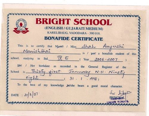 School certificate format 8 primary school leaving certificate how to get format for bonafide certificate yadclub Gallery