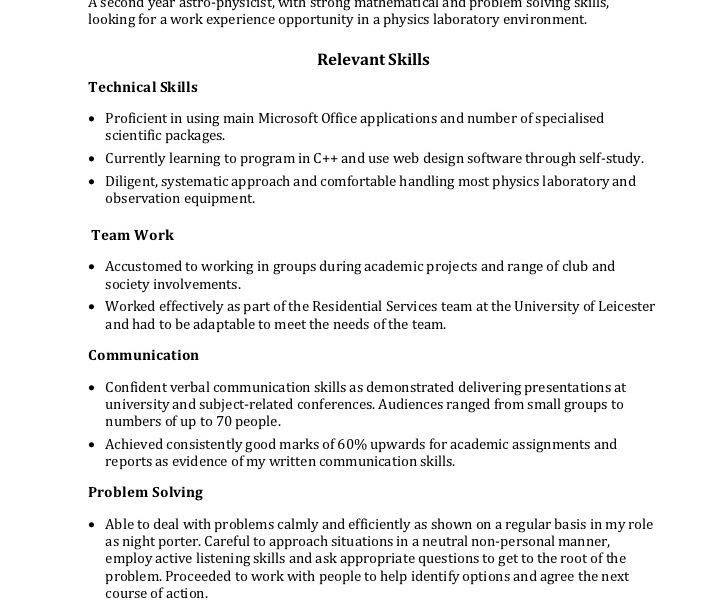 Technical Skills Resume. Technical Project Manager Resume, Example ...