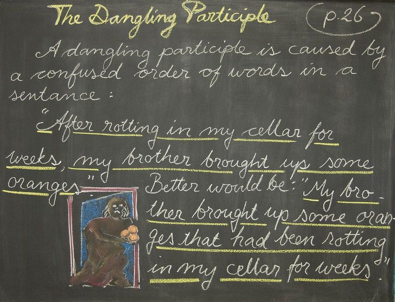 Waldorf ~ 4th grade ~ Language Arts ~ The Dangling Participle ...