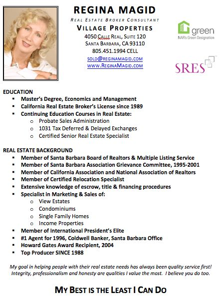 real estate resume with no experience Real Estate Broker Resume ...
