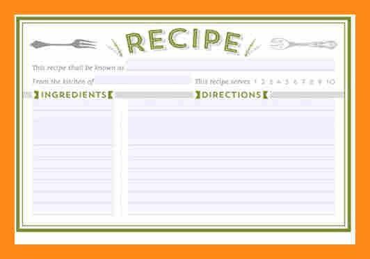 17+ Recipe Card Templates - Free PSD, Word, PDF, EPS Format ...