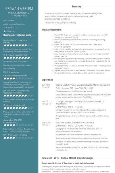 project management resume samples free project management resume ...