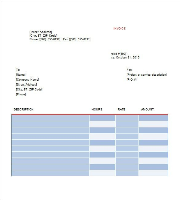 Graphic Design Invoice Template – 8+ Free Word, Excel, PDF Format ...