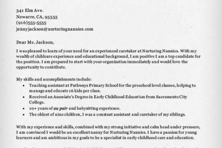 Nanny Cover Letter. Cover Letter Cover Letter Nanny Nanny Resume ...