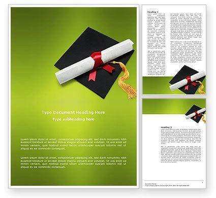 Certificate of Degree Word Template 02855 | PoweredTemplate.com