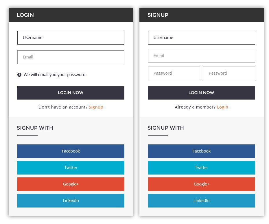 Login & Signup Psd Template : UIFuse
