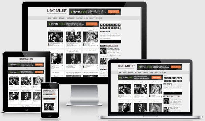 Light Gallery Blogger Template | NewBloggerThemes.com