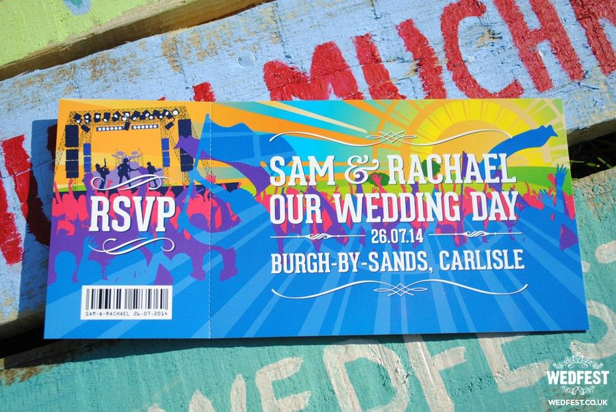 Concert Ticket Wedding Invites - Home Design