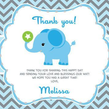 How to create Baby shower thank you card wording templates — Anouk ...
