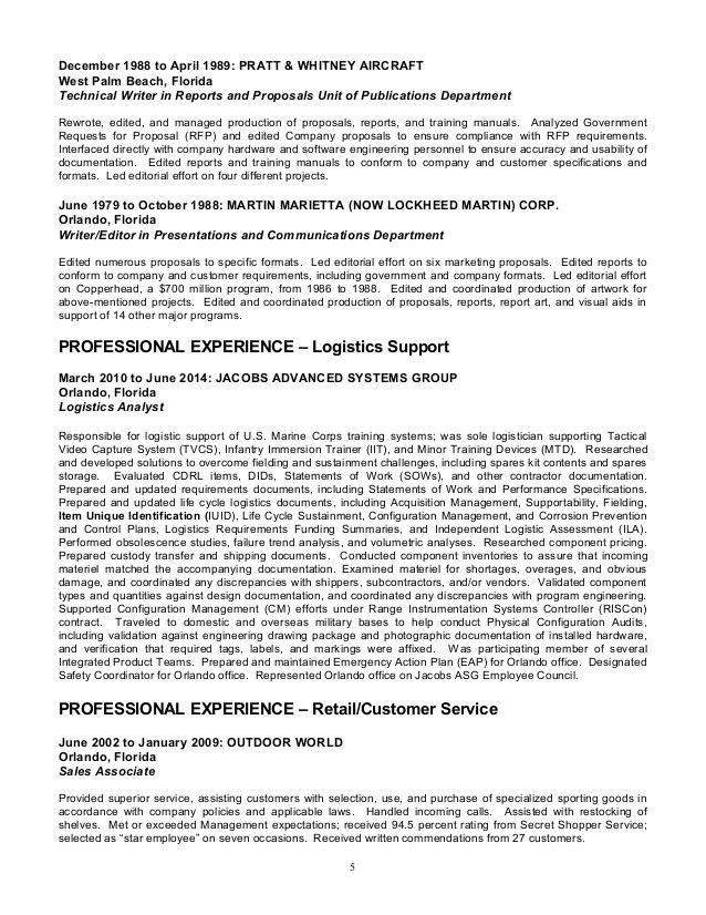 sample resume for technical writer writer resume resume for a