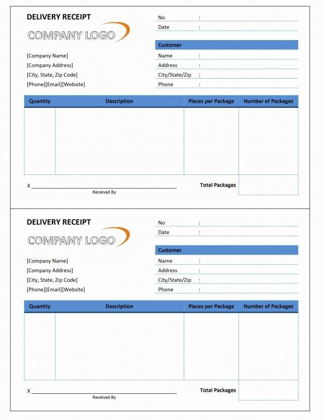 Delivery Invoice Template Excel | Design Invoice Template