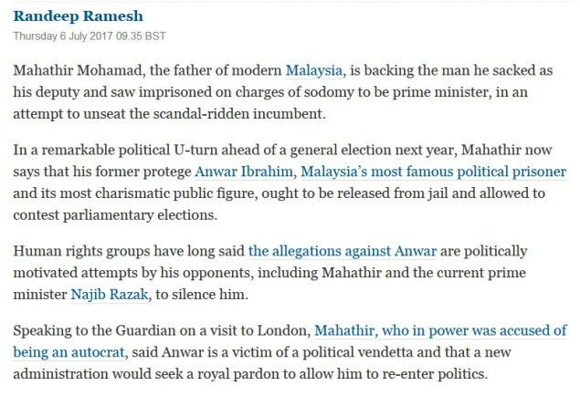 Dr M has no objection to Anwar becoming PM | For A Better Malaysia