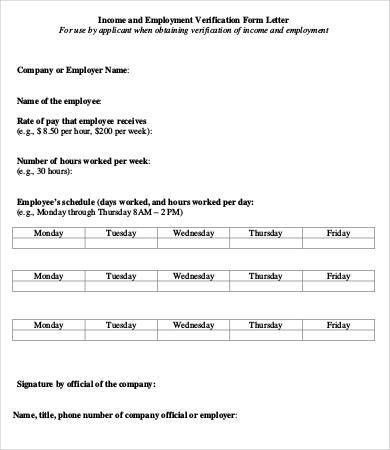 Employment Verification Forms. Employment Verification Form Sample ...