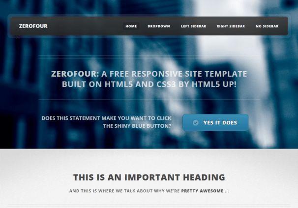 Zerofour - Responsive Html5 Template - Html5xCss3