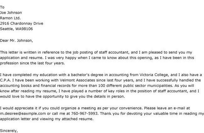 Resume Cover Letter Accounting