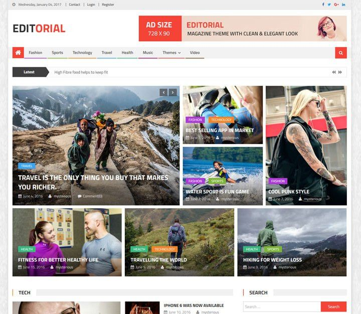 45+ Best FREE WordPress Themes and Templates for 2017