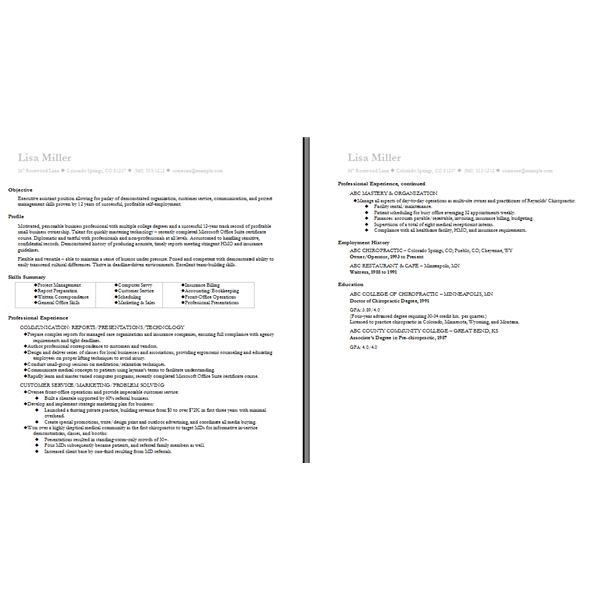 Awesome Two Page Resume Example 45 For Your Resume Format With Two ...