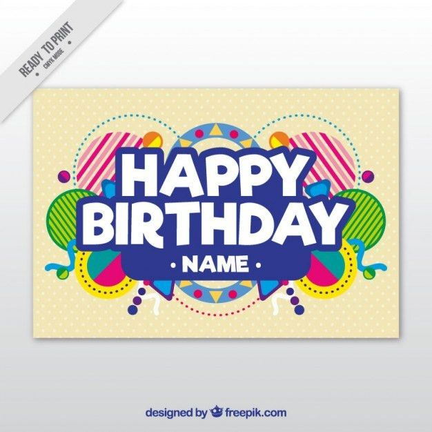 Birthday Card Template Vector | Premium Download
