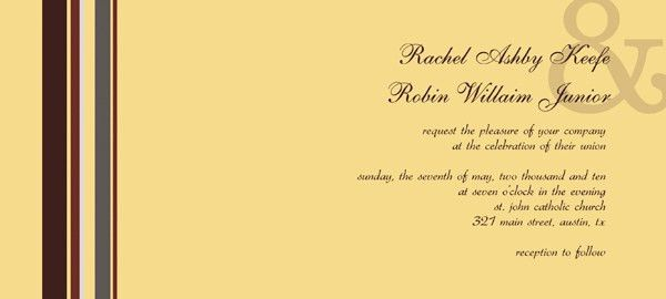 Wedding Invitation Cards Templates