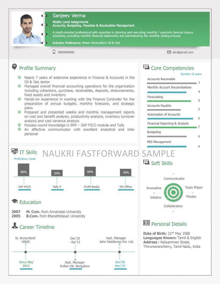 Visual Resume Samples | Visual CV | Visual Curriculum Vitae Format ...