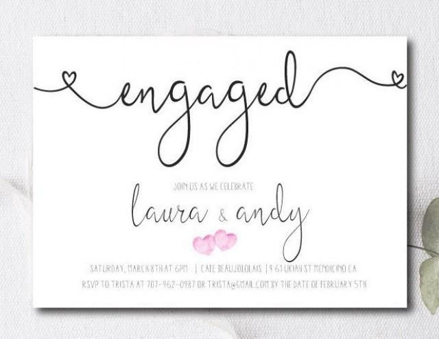 Engagement Party Invite / Engagement Party Invitation / Couples ...