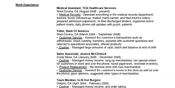 bank teller resume with no experience jianbochencom resume ...