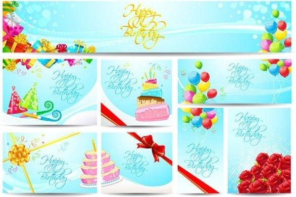 Birthday card vector Free vector in Adobe Illustrator ai ( .ai ...