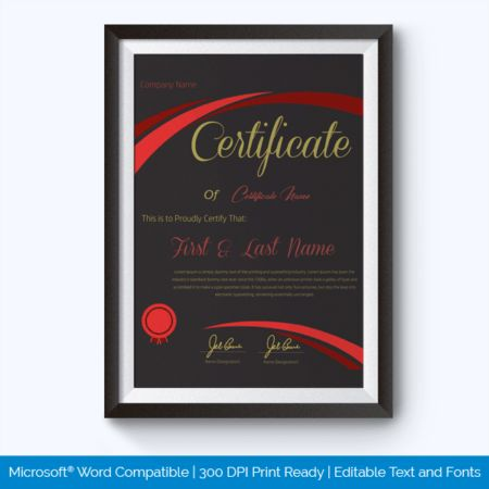 Best Performance Award Certificate Templates - Word Layouts
