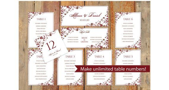 Wedding Seating Chart Template - DOWNLOAD Instantly - EDITABLE ...
