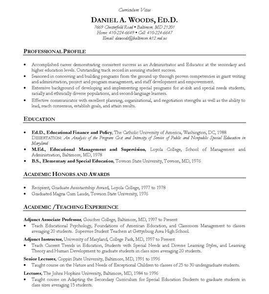 Download Academic Resume Template | haadyaooverbayresort.com