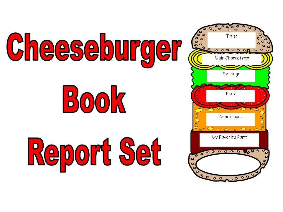 Cheeseburger Book Report Set | Other Files | Documents and Forms