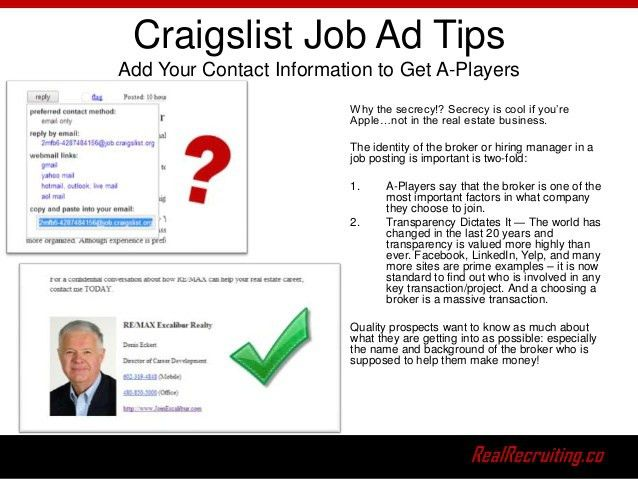 The Definitive Guide To Real Estate Recruiting on Craigslist Ebook