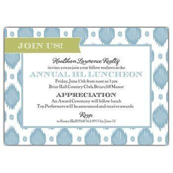 Corporate Invitation wording | PaperStyle