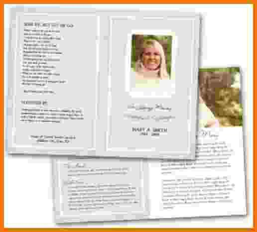 7+ funeral program templates free | Itinerary Template Sample