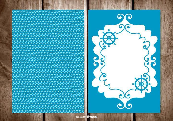 Blank Sailor Style Greeting Card Template - Download Free Vector ...