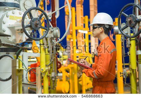 Offshore Oil Gas Operations Production Operator Stock Photo ...
