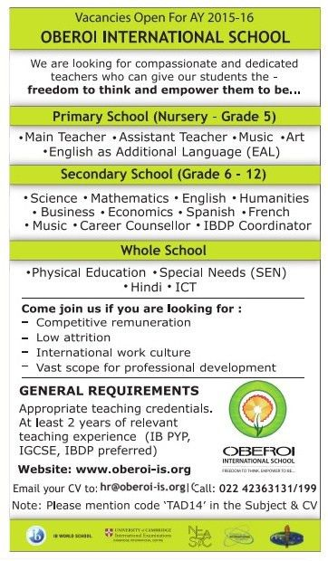 Job - Whole School Teacher - India - Learning & Library ...