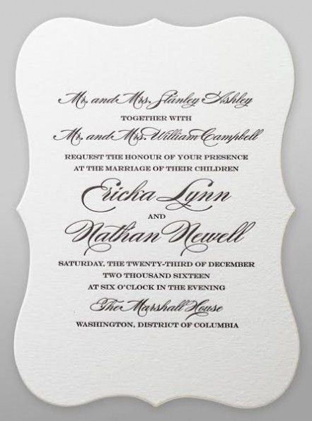 Best Album Of How To Word A Wedding Invitation 2017 | THEWHIPPER.COM