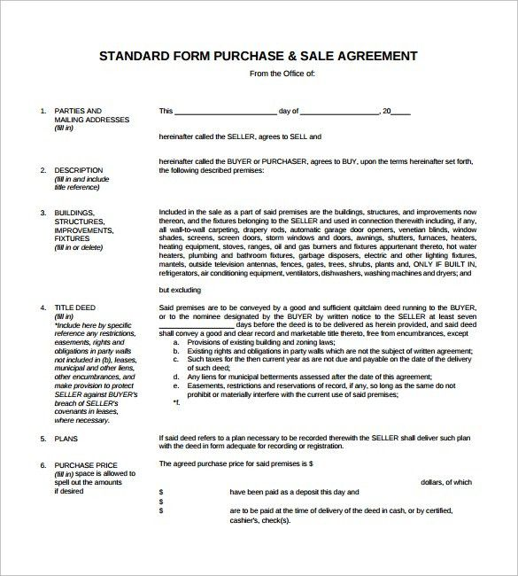 Sales Agreement - 10+ Download Free Documents in Word, PDF