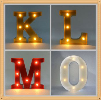 Large Outdoor Led Sign Vintage Letter Lights Light Box Letters ...