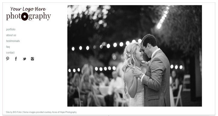 Event Photography Website Templates – BIG Folio