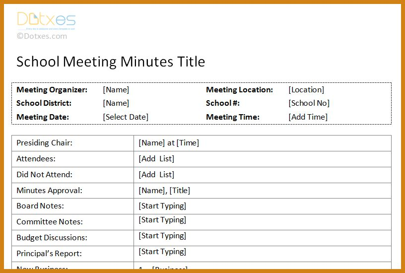 meeting notes format | letter format template