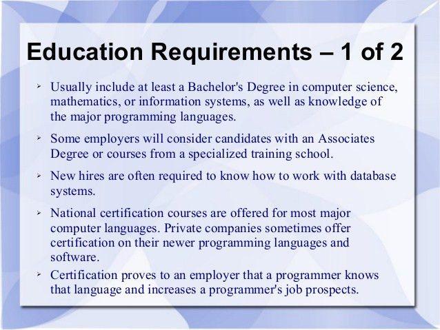 Lovely Computer Programmer Job Information